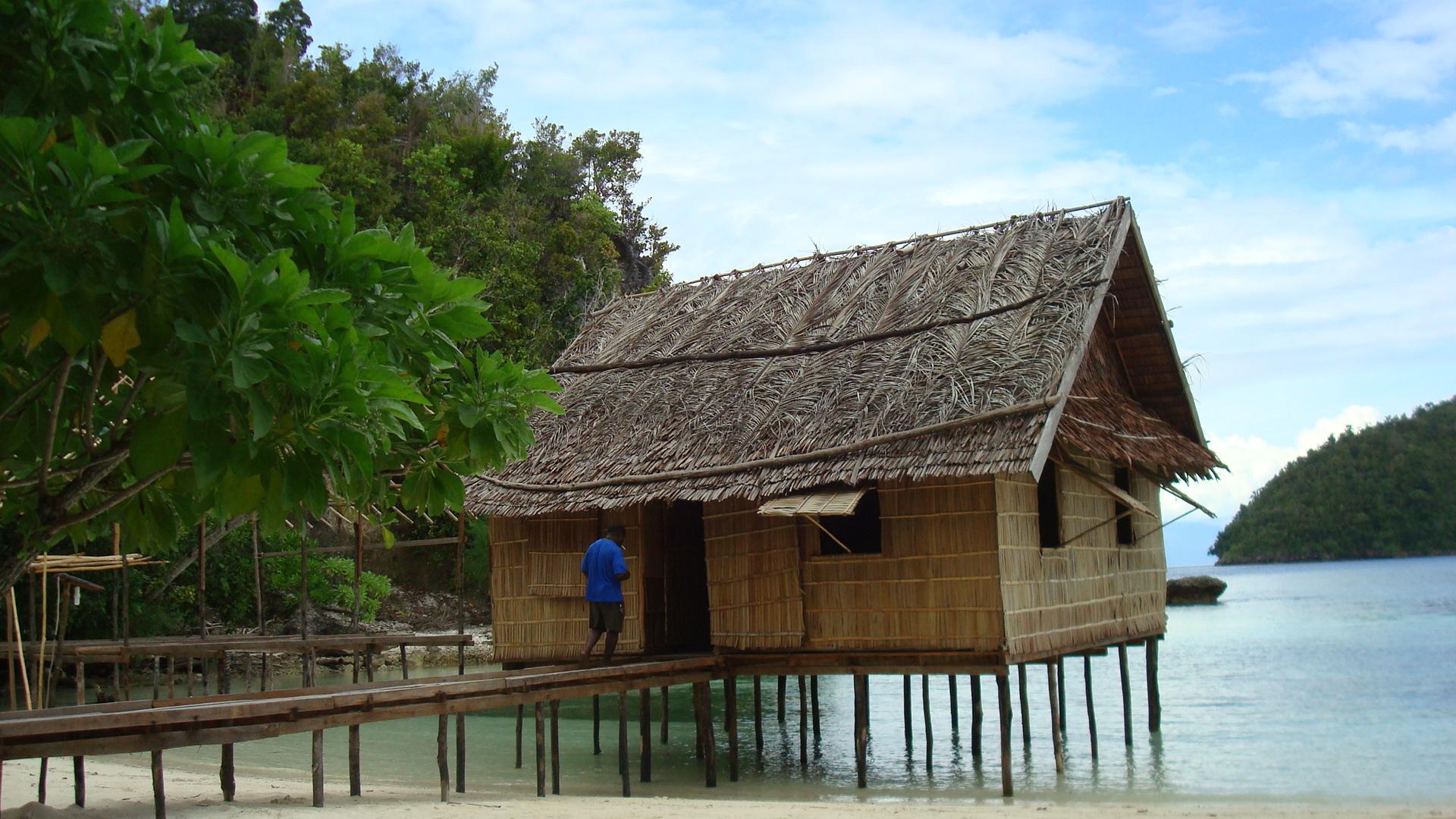 Model Home Stay di Raja Ampat